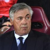 Carlo Ancelotti en el Vicente Calderón.