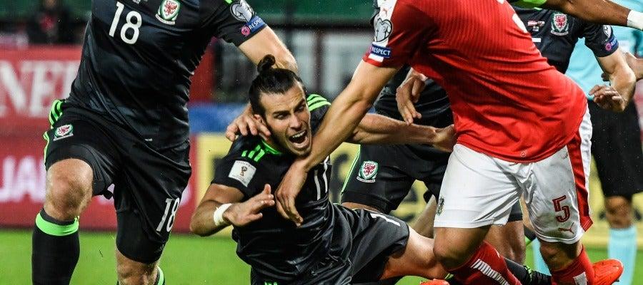 Gareth Bale, en un momento del encuentro ante Austria.