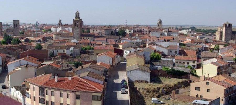 Vista aérea de Arévalo (Ávila)