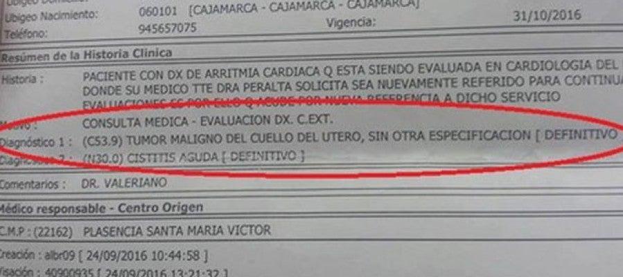 Diagnostico erróneo de un anciano en perú