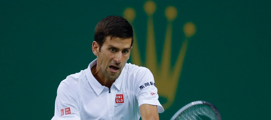 Novak Djokovic, en el Masters de Shanghái