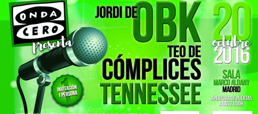 Concierto de Onda Cero Madrid con Jordi de OBK, Teo de Cómplices y Tenessee