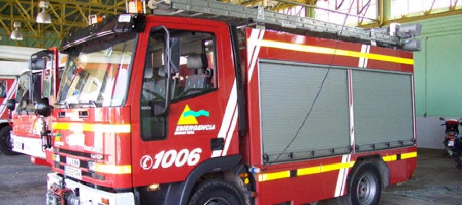 Un camión de bomberos en Valdepeñas