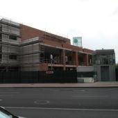 Edificio en obras en el Hospital Provincial de Castellón
