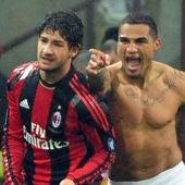 Pato en su época en Milan con Boateng