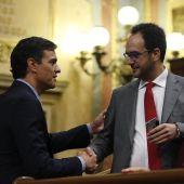 Pedro Sánchez y Antonio Hernando