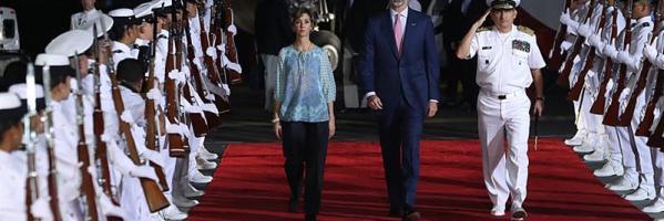 El Rey Felipe VI a su llegada a Colombia