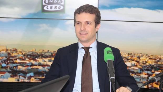"""Pablo Casado: """"Me preocupa que la antipolítica de Podemos sea ahora el liderazgo de la oposición"""""""