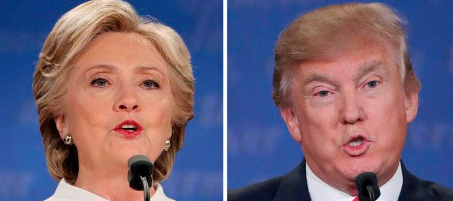 Hillary Clinton y Donald Trump, candidatos a la Presidencia de EEUU