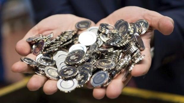 Monedas de cinco euros