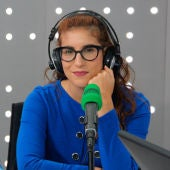 Elsa Ruiz en los estudios de Onda Cero
