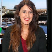Dolores Redondo durante una entrevista en Onda Cero