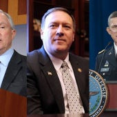 Jeff Sessions, Mike Pompeo y Michael Flynn