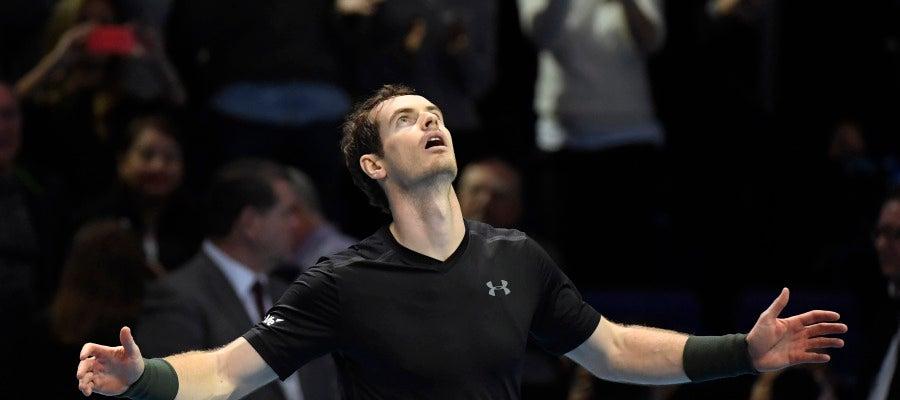 Andy Murray celebra la victoria ante Raonic