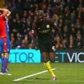 Touré celebra uno de sus goles ante el Crystal Palace