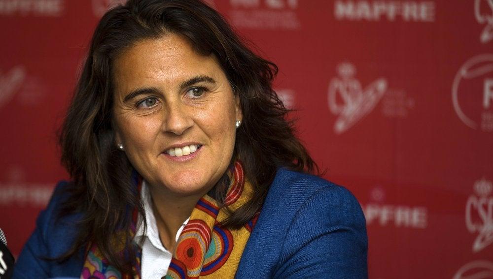 Conchita Martínez, en una rueda de prensa