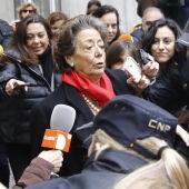 Rita Barberá a su salida del Tribunal Supremo