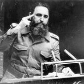 El comandante cubano Fidel Castro