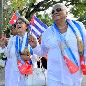 Integrantes del movimiento opositor cubano Damas de Blanco
