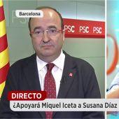 Miquel Iceta, durante una entrevista en Espejo Público