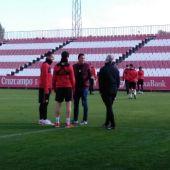 Carlos Bacca, en el entrenamiento del Sevilla
