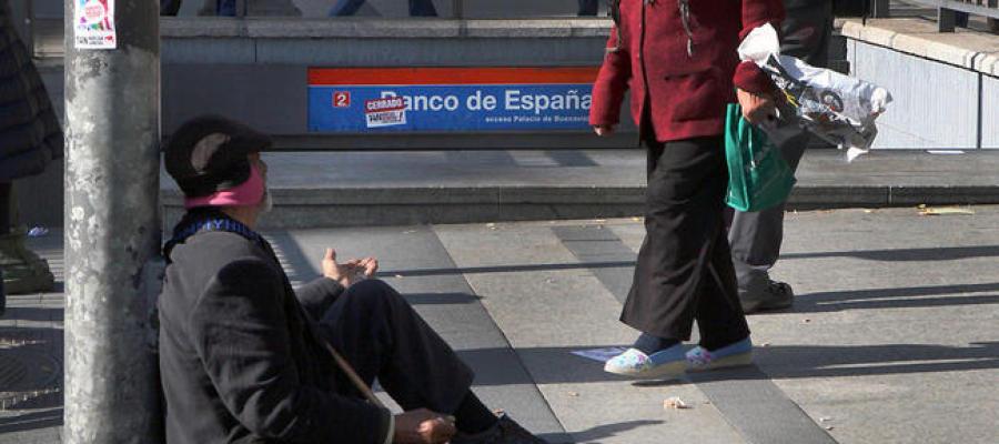 Mendigo en la Comunidad de Madrid