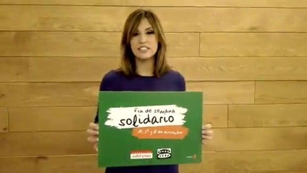 "Sandra Sabatés: ""Súmate al fin de semana solidario"""