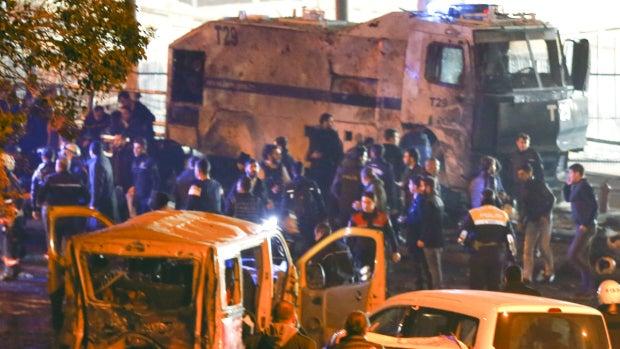 Lugar de la explosión en Estambul