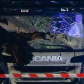 Parte frontal del camión del atropello masivo en Berlín