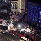 Imagen del ataque terrorista en el centro de Berlín