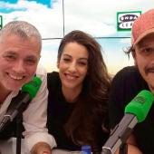 Sergio Peris- Mencheta y Almudena Cid durante una entrevista con Juan Ramón Lucas en Más de uno