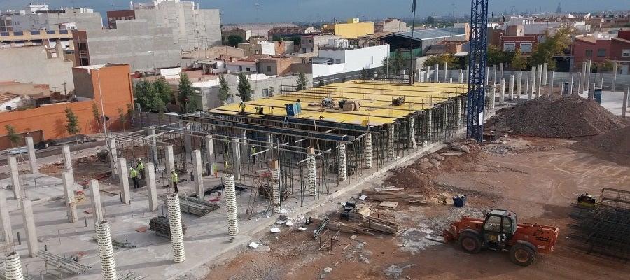 Las obras del colegio Regina Violant de Almassora.