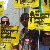 Manifestación contra las cláusulas suelo