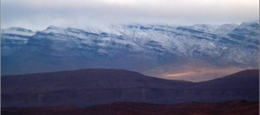 Imagen del Sahara nevado