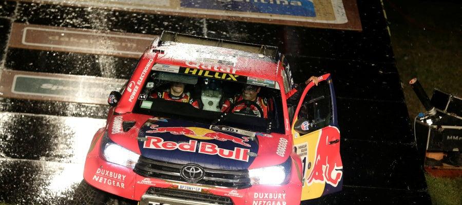 Al-Attiyah, en la salida del Rally Dakar 2017