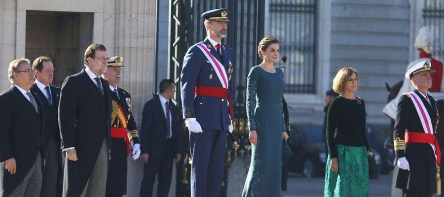 Zoido, Rajoy, los reyes y Cospedal en la Pascua Militar