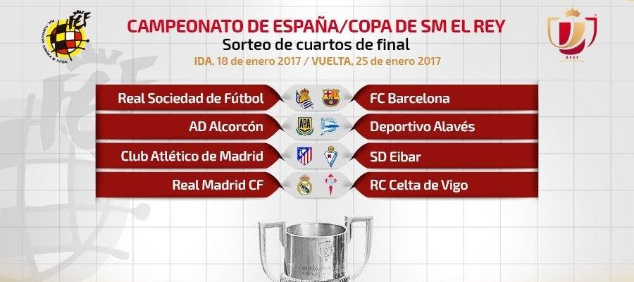 Cruces de cuartos de final de la Copa del Rey