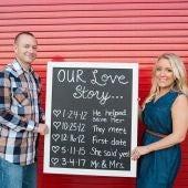 La pareja cuenta su historia de amor