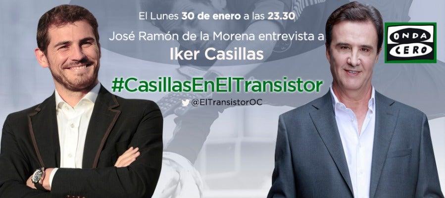 Iker Casillas estará el lunes 30 de enero en El Transistor