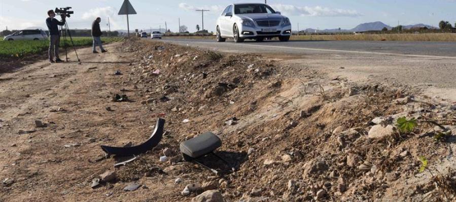 Lugar situado en el kilómetro 4,400 de la carretera RMF36 del accidente