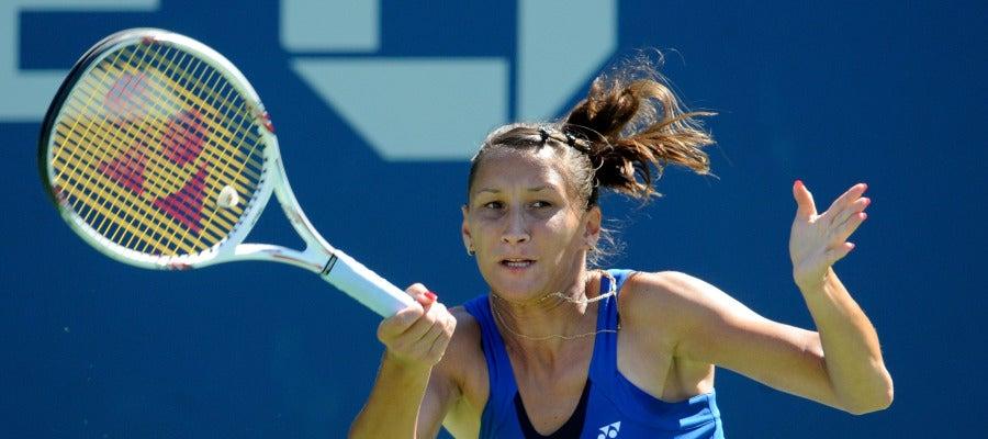 Ekaterina Bychkova, durante un partido