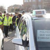 Protesta de taxis en Palma