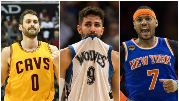 Kevin Love, Ricky Rubio y Carmelo Anthony, posibles traspasos de última hora