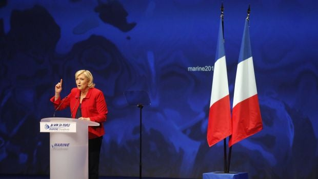 La candidata ultraderechista, Marine Le Pen, en Lille