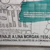 Mural en La Latina en homenaje a Lina Morgan