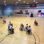 Imagen de un encuentro disputado por el Club Deportivo Minusválidos Elche.