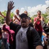 Protesta en contra del Gobierno en Caracas