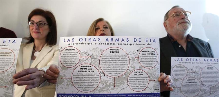 Firmantes del manifiesto 'Por un fin de ETA sin impunidad'