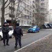 Policía cerca de la zona de la explosión