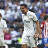 Pepe celebra su gol al Atlético de Madrid